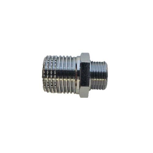 Niplex reduced from 1/2 x 3/8 brass