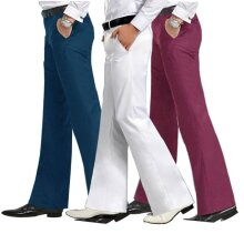 Men,s Flared Trousers Formal Pants Bell Bottom Dance Suit