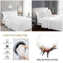 White 100% Egyptian Cotton Luxury Flat Sheets