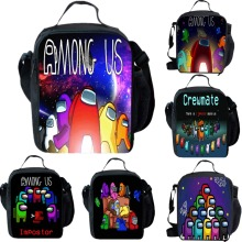 Among Us Insulated Lunch Bag School Outdoor Lunchbox