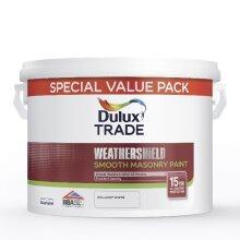 Dulux Trade Weathershield Smooth Masonry Paint Magnolia 7.5 Litres