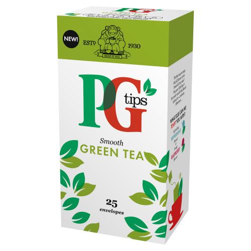 Pg Tips Green Tea Enveloped Tea Bags 25s