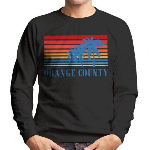 (Small) Orange County Retro 70s Sunset Men's Sweatshirt