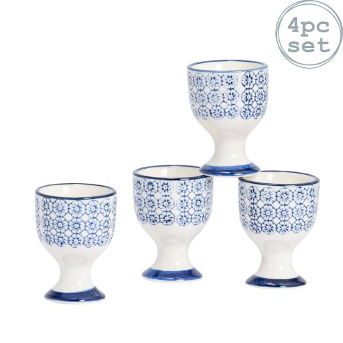 "5 x 5 x 7cm - White 2 Cup 7cm Kitchencraft Porcelain Egg Cup 2/"" x 2/"" x 3/"""