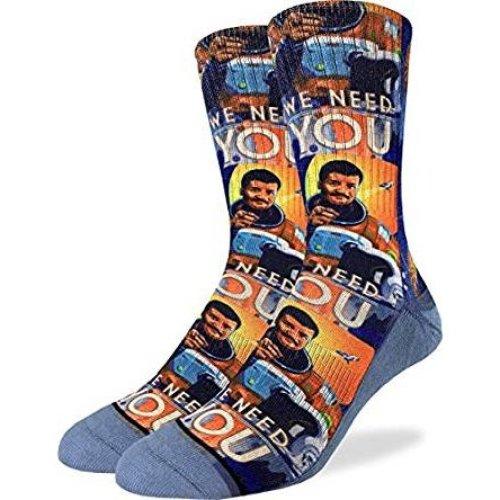 Socks - Good Luck Sock - Men's Active Fit - Neil deGrasse Tyson (8-13) 4105