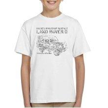 Haynes Workshop Manual Land Rover Camo Black Kid's T-Shirt
