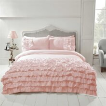 Pink Flamenco Double Quilt Duver Cover & 2 Pillowcase Bedding Bed Set Can Can Blush Soft