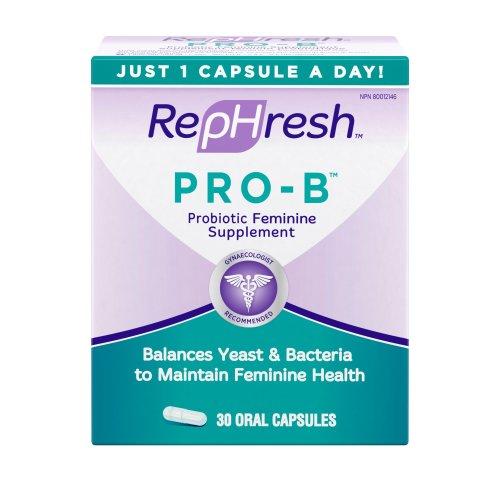 RepHresh Pro-B Probiotic Feminine Supplement, 30-Count Capsules