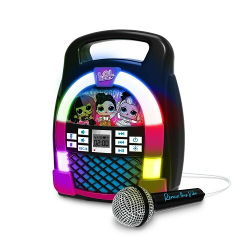 L.O.L Surprise! Remix Bluetooth Karaoke Boombox for Kids with Lights