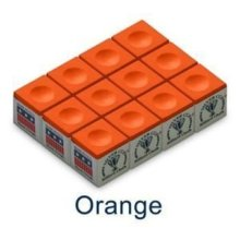 Sterling Gaming Silver Cup Orange Pool Cue Chalk - 12 Pc Set