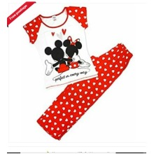 BRAND NEW OFFICIAL LADIES DISNEY MINNIE AND MICKEY MOUSE PYJAMAS WOMANS PJS