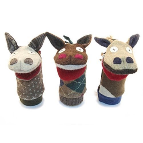 Cate and Levi 12 Handmade Horse Hand Puppet Premium Reclaimed Wool Colors Will Vary