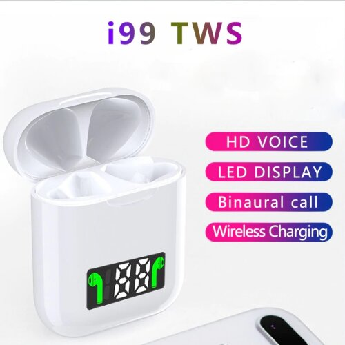 i99 TWS Wireless Earphones LED Power Display Touch Control Headset