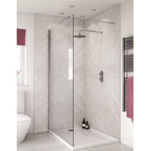 Subtle Grey Marble Shower Wall 2.4m x 1m PVC Bathroom Wet Wall