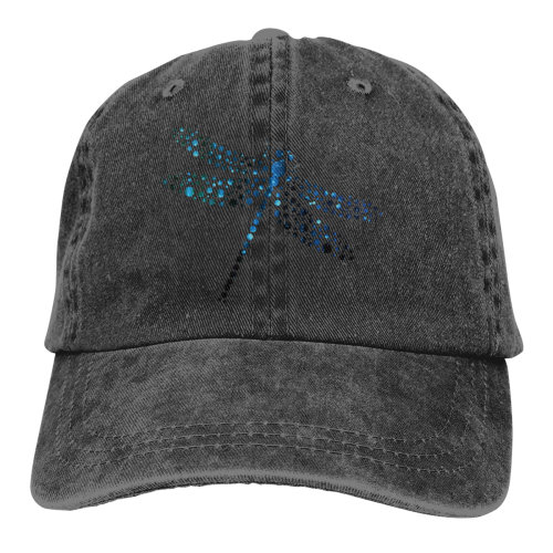 Dragonfly Insect Small Dots Denim Baseball Caps