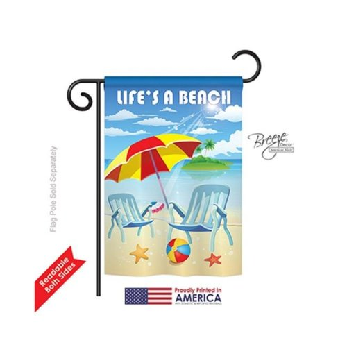 Breeze Decor 56057 Summer Lifes a Beach 2-Sided Impression Garden Flag - 13 x 18.5 in.