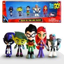 Teen Titans Go Figure Mini Figurine Model Kids Toy
