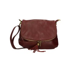 28x22x5 cm - Crossbody Leather bag - Made in Italy