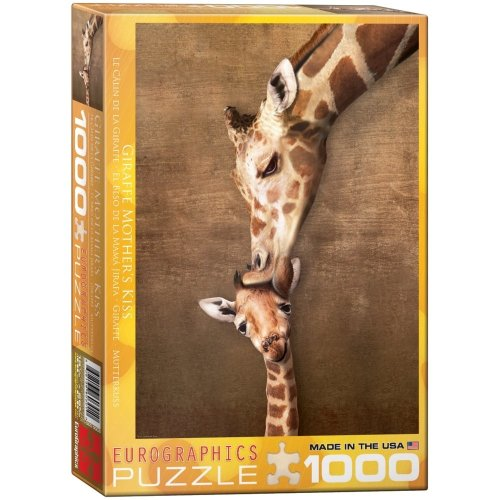 Eg60000301 - Eurographics Puzzle 1000 Pc - Giraffe Mothers' Kiss