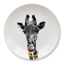 Mustard Wild Dining Ceramic Giraffe Dinner Plate