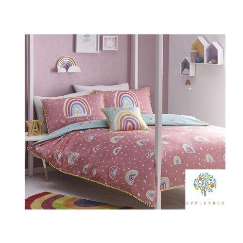 Rainbow Pom Bedding Sets - 100% Cotton