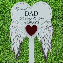 Special Dad Grave Stick Graveside Memorial Angel WIngs