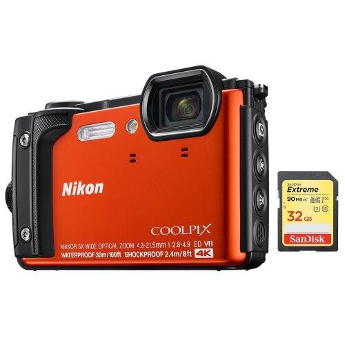 NIKON W300 Orange + SanDisk Extreme 32G SD card