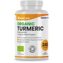 Organic Turmeric 700mg, 240 Capsules with Organic Black Pepper