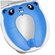 [Upgrade Version] Foldable Potty Seat - RIGHTWELL Travel Toilet Seat, Toilet Training Seat Portable Toilet Seat Toddler PP Material with Carry Bag (