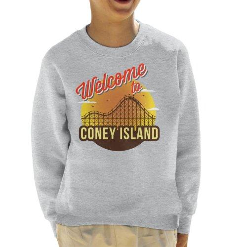 Welcome To Coney Island Retro Kid's Sweatshirt