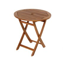 Mir York Acacia Round Folding Table 70cm 110100