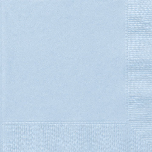 20 Baby Blue Luncheon Napkins