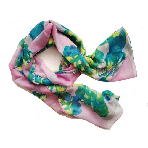 160 50cm Flower Floral Fashion Ladies Scarves Chiffon Scarf Womens Shawls X238 Rose
