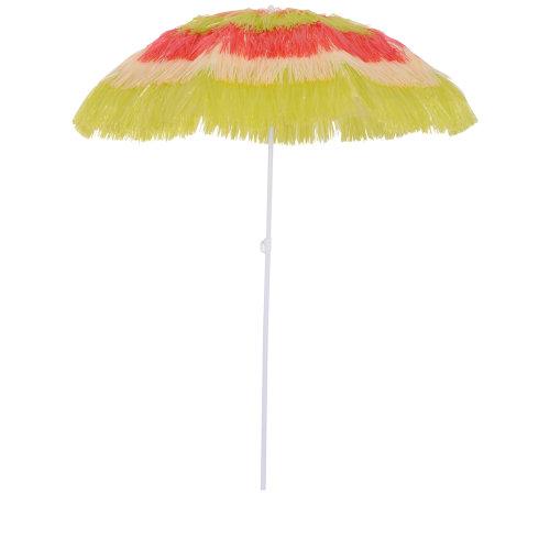Outsunny Patio Garden Hawaii Beach Sun Umbrella Sunshade Hawaiian Folding
