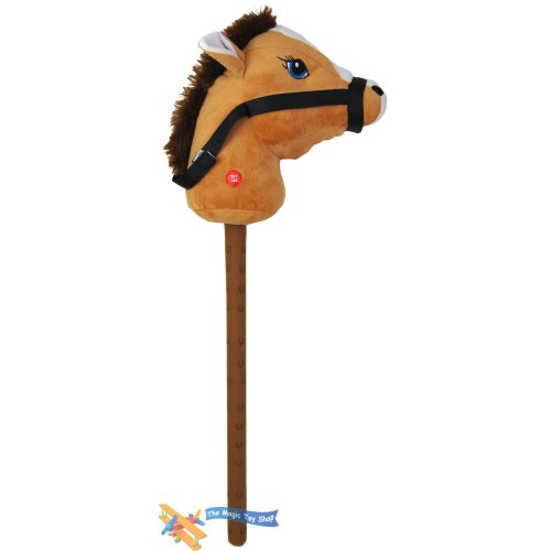 (Brown) The Magic Toy Shop Kids Hobby Horse or Unicorn