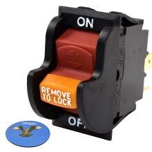 HQRP On-Off Toggle Switch for Ryobi 080900062530 BD46023 080900062522 BD4600 BD4601 BD4601G Sander + Coaster