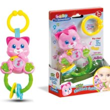 Clementoni Kitty Electronic Rattle with Light and Sound
