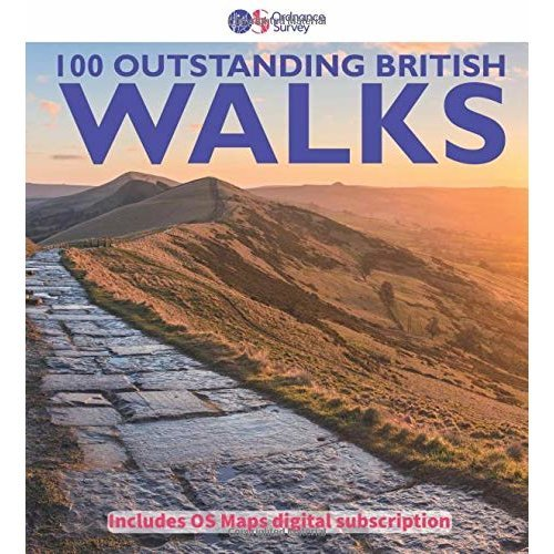 100 Outstanding British Walks: Includes 6 Month Digital Subscription to Download OS Maps (Ordnance Survey Pathfinder Guides)