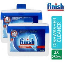 Finish Dishwasher Cleaner Removes Grease And Limescale 250 ml Twin Pack