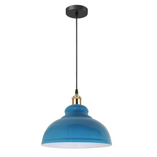 (Blue Color Shade) Pendant Light Lampshade Loft Metal Hanging Light
