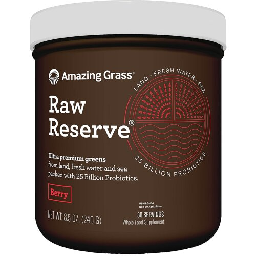 Amazing Grass Raw Reserve Ultra Premium Greens Berry Protein Powder 30 Servings