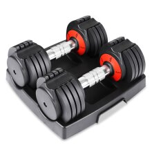 Dripex 30lb pair Adjustable Dumbbells for Full Body Workout Fitness