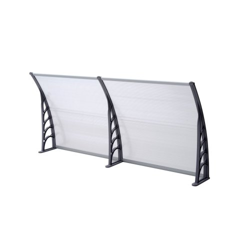 Front door canopy porch rain protector awning lean to roof shelter Shade Cover[80 X 300cm]