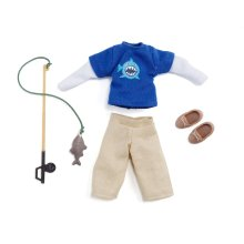Lottie Doll Outfit Gone Fishing Clothing Set   Best fun gift for empowering kids ages 3 & up