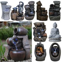 GEEZY Polyresin Water Fountains with LED Lights
