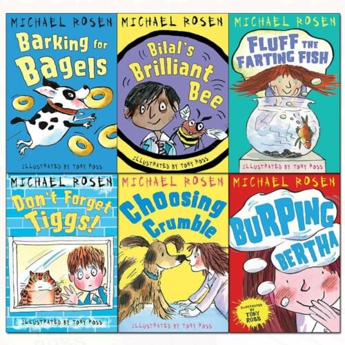 Michael rosen collection 6 books set pack Burping Bertha, Choosing NEW