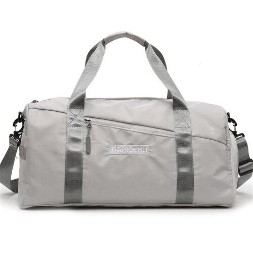 Wet Dry Separation Shoes Bag Waterproof Gym Bag Sport Fitness Yoga Luggage Handbag Travel Shoulder Bag GRAY