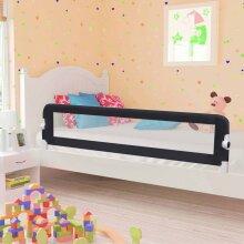vidaXL Toddler Safety Bed Rail Grey 180x42cm Polyester Kids Nursery Rails