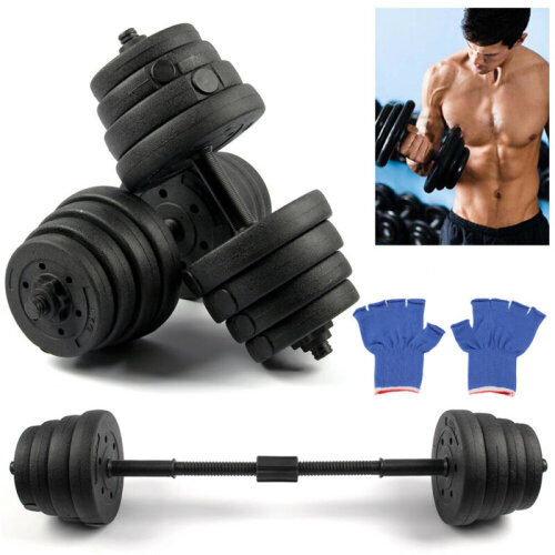 30KG Dumbell Gym Home Weights Training Fitness Workout Exercise Free Weight Set