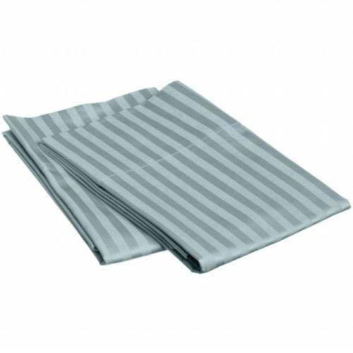 Egyptian Cotton 650 Thread Count Stripe Sheet Set  Twin-Teal